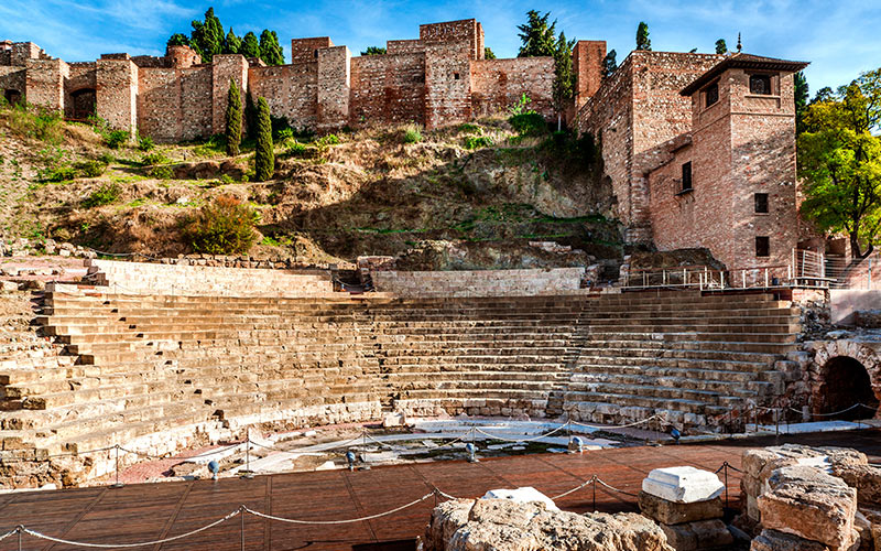 Alcazaba et théâtre romain de Malaga