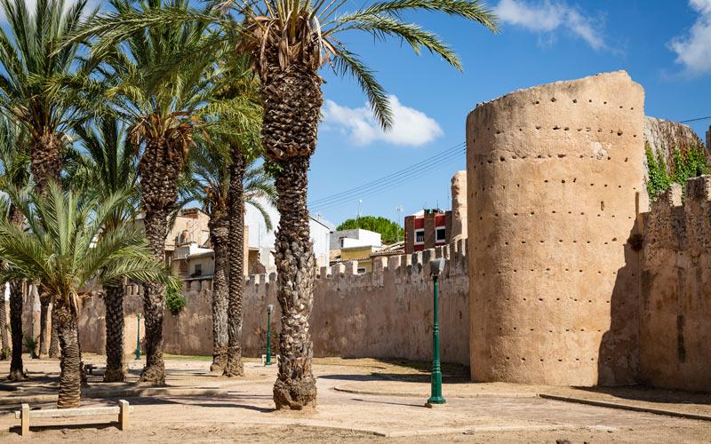 Morceau de la muraille almohade d'Alzira