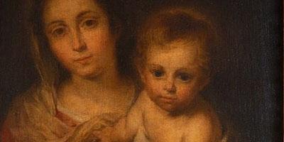 Détail de La Vierge de la serviette