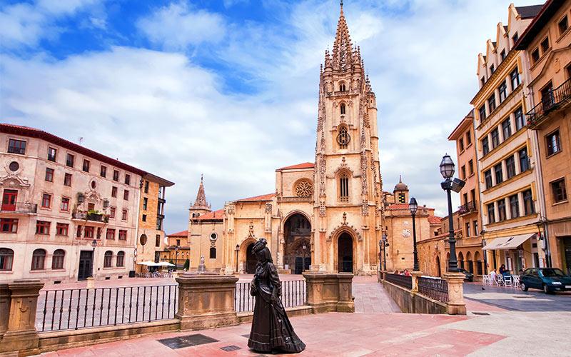 La Cathédrale d'Oviedo fut très affectée par la Révolution de 1934