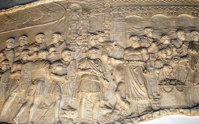 Sculpture murale romaine provenant des ruines d'Italica