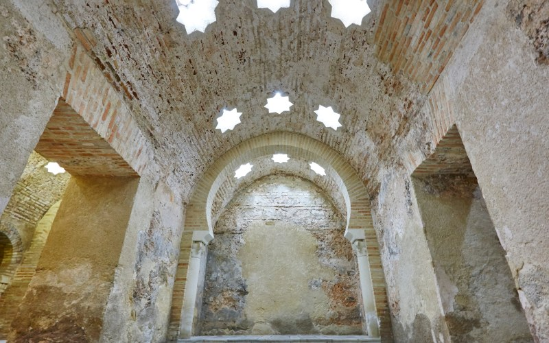 L'intérieur du hamman de Jaén