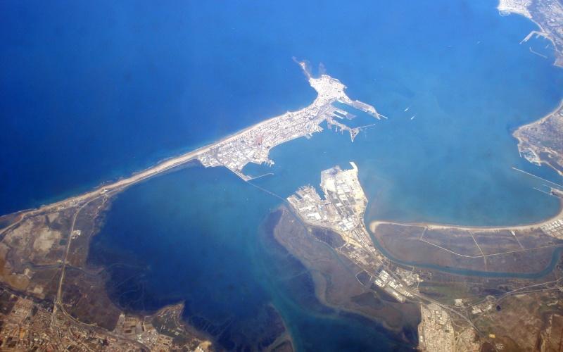 Île de León vue du ciel