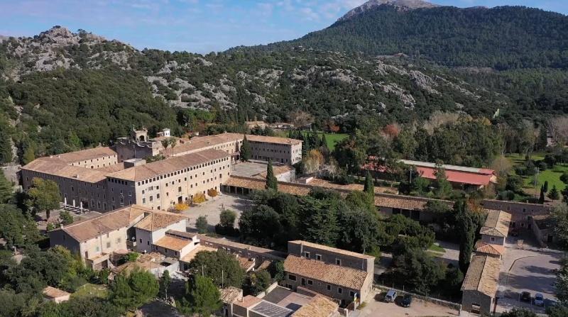 Vue panoramique du Monastère de Lluc