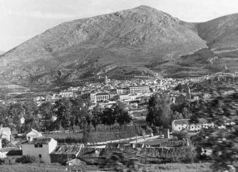 Antigua vista de Loja