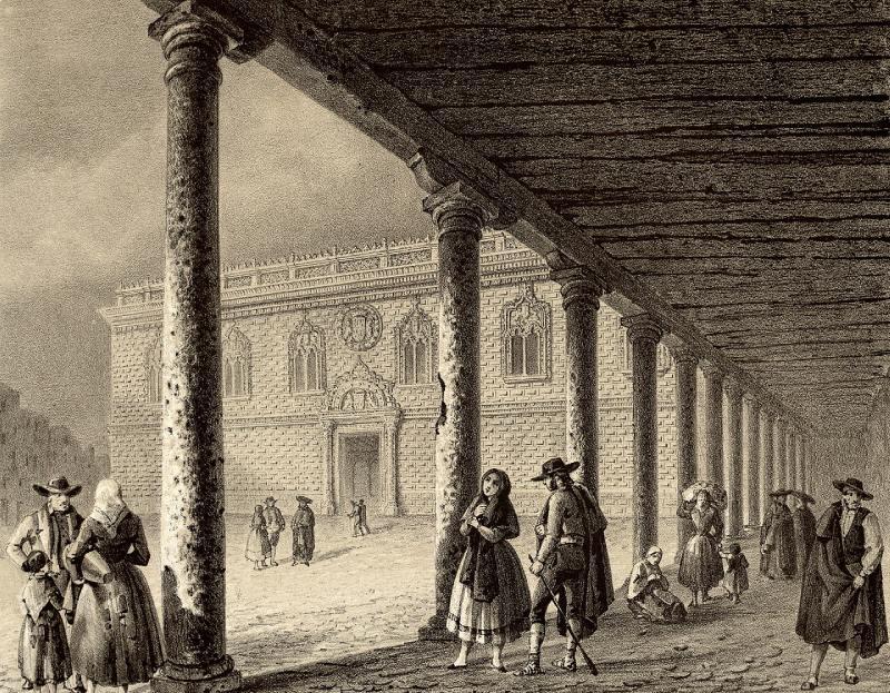 Le palais dans une illustration de Recuerdos y bellezas de España