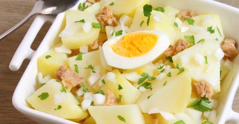 Pommes de terre aliñás de Cadix, la recette classique