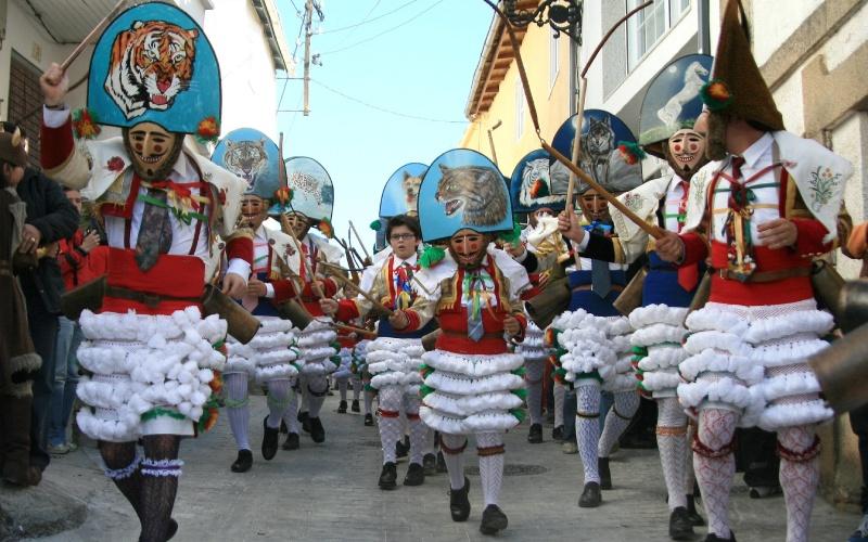 Peliqueiros de Laza pendant la célébration du carnaval
