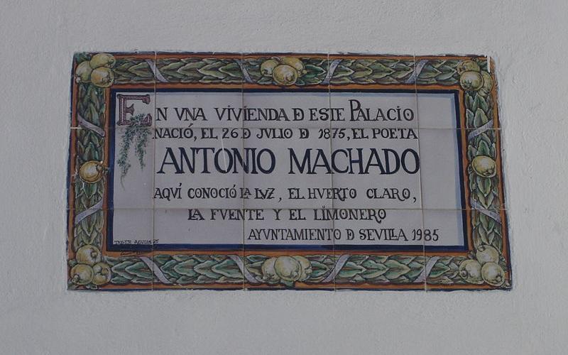 Plaque en hommage à Antonio Machado