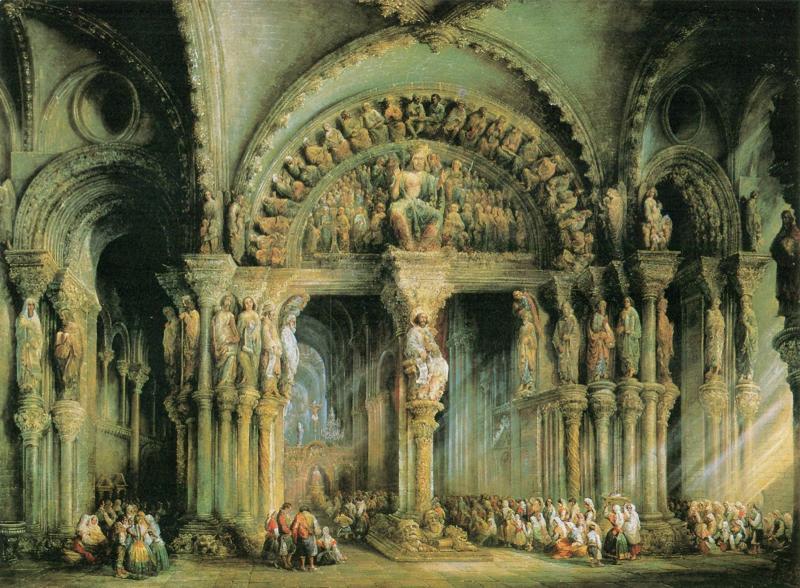 Le Porche de la Gloire dans la cathédrale de Saint-Jacques-de-Compostelle