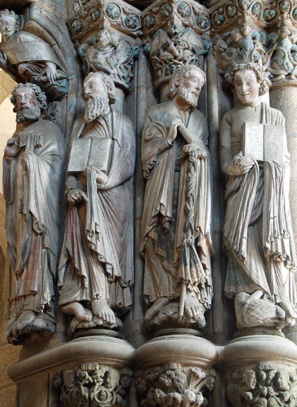 Le Porche de la Gloire de la cathédrale de Saint-Jacques-de-Compostelle a été construit sous les instructions de Maître Mateo par ses collaborateurs