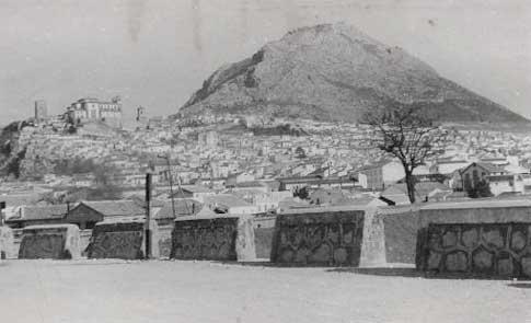 Vue panoramique ancienne de Jaén