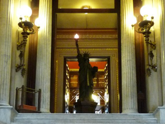 La statue de la Liberté de Barcelone