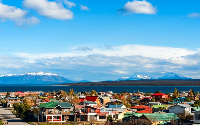 Puerto Natales, dans le détroit de Magellan, Chili