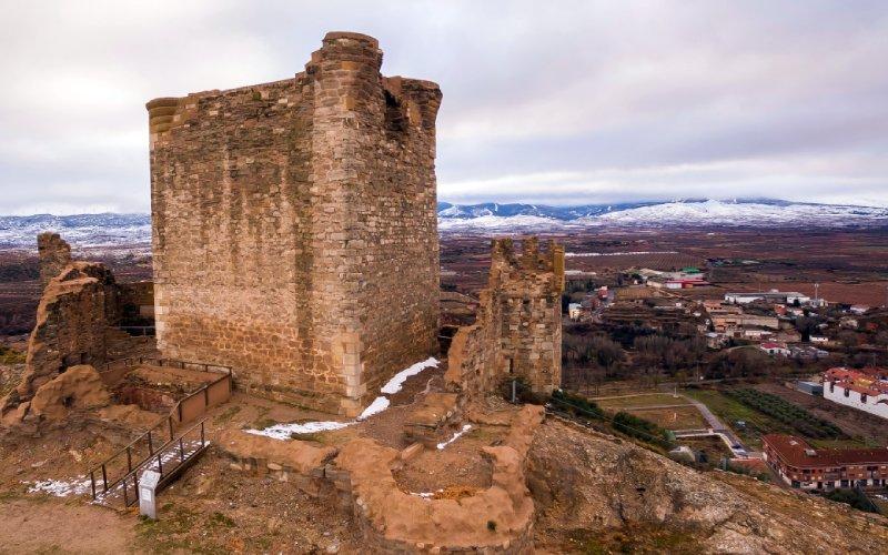Le Château de Quel en hiver
