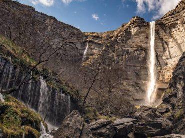 La cascade du Nervión, la plus haute chute d'eau d'Espagne qui ne coule que pendant quelques mois