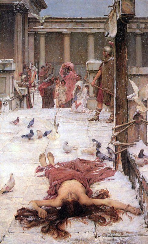Martyre de Santa Eulalia de Waterhouse