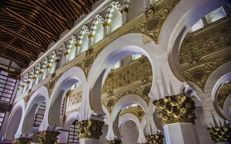 Intérieur de la synagogue Santa María la Blanca