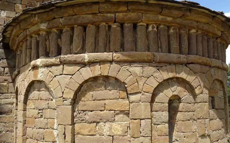 Détail de l'abside de San Andrés de Satué