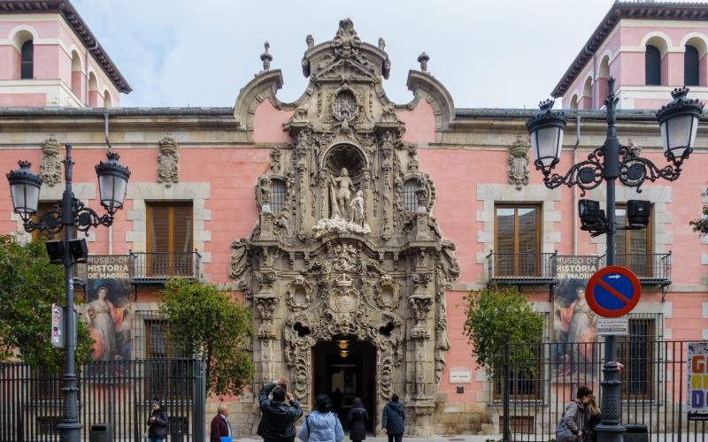 Façade du Musée d'Histoire de Madrid, œuvre de Pedro de Ribera et joyau du dénommé baroque madrilène