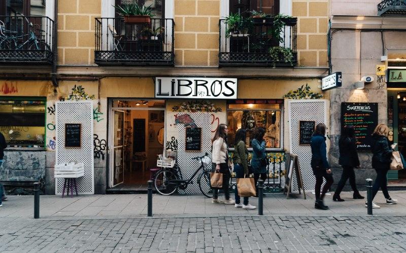 Un des magasins de Malasaña