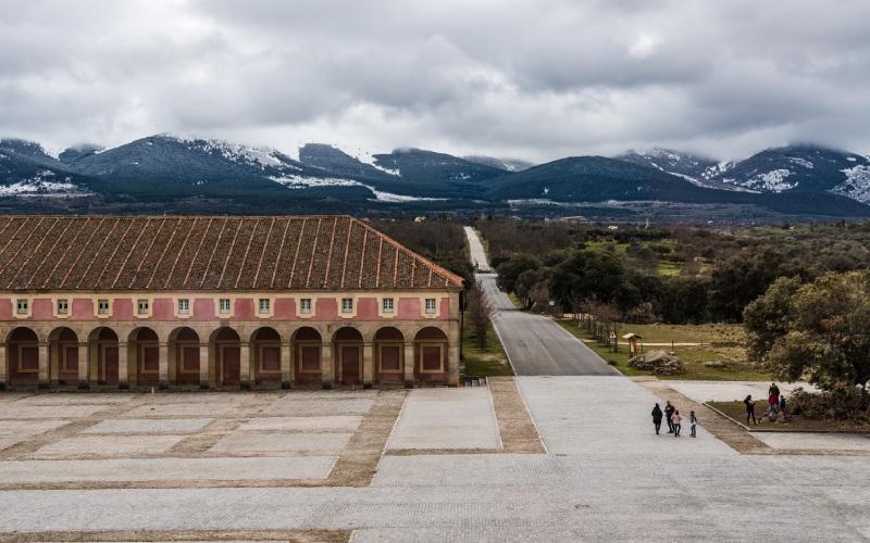Palais de Riofrío en hiver