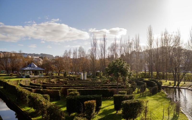 Le labyrinthe du parc Pasatiempo