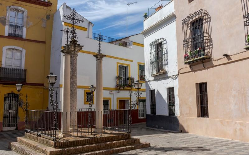 L'ancien quartier juif dans le district de Santa Cruz à Séville