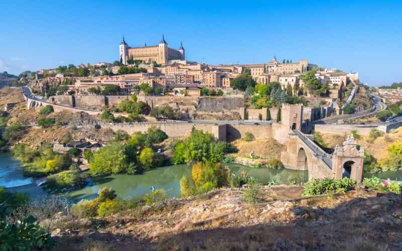Vues de la ville de Tolède depuis un mirador