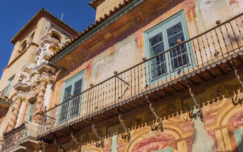 L'architecture qui orne le palais de Peñaflor