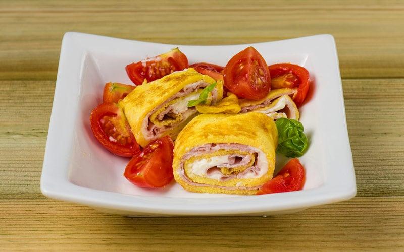 Rouleaux d'omelette santé