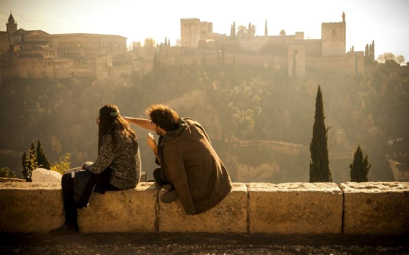 Vues de l'Alhambra de Grenade depuis le mirador de San Nicolás