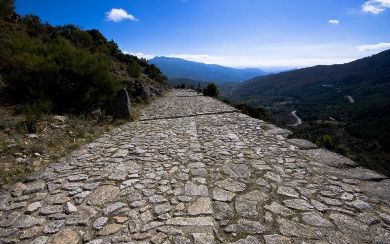 Une route romaine traversant les montagnes de Gredos (Ávila)