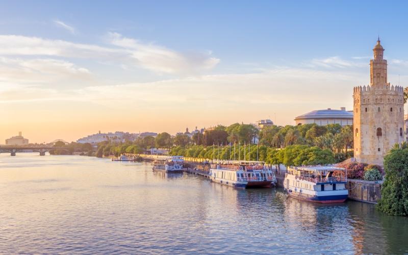 Le fleuve Guadalquivir et Séville