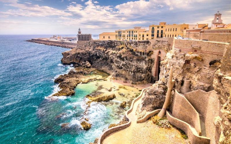Panoramique de la côte de Melilla