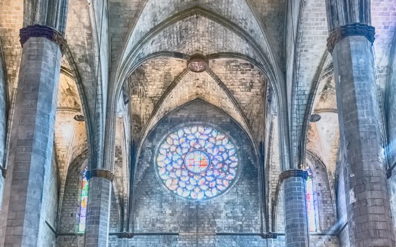 Rosace de la basilique de Santa María del Mar