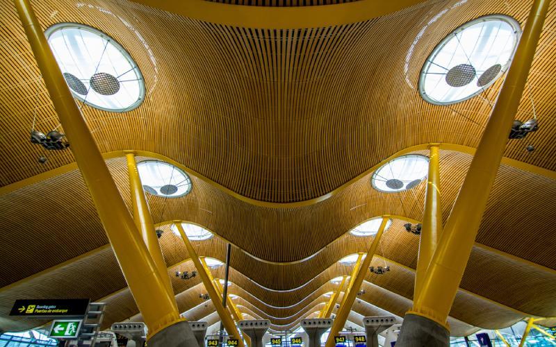 Le T4 à l'aéroport de Madrid Barajas