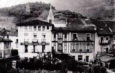 Casas del Antiguo Taller de Organeros de Aquilino Amezúa en Azpeitia