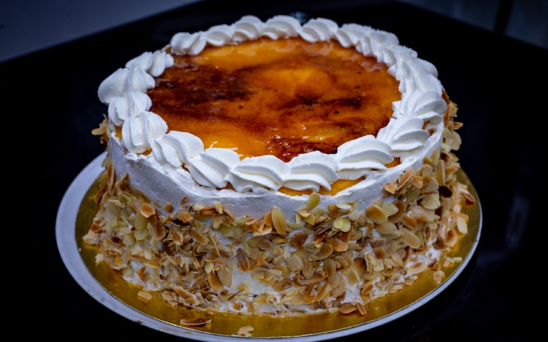 Présentation traditionnelle du gâteau de San Marcos