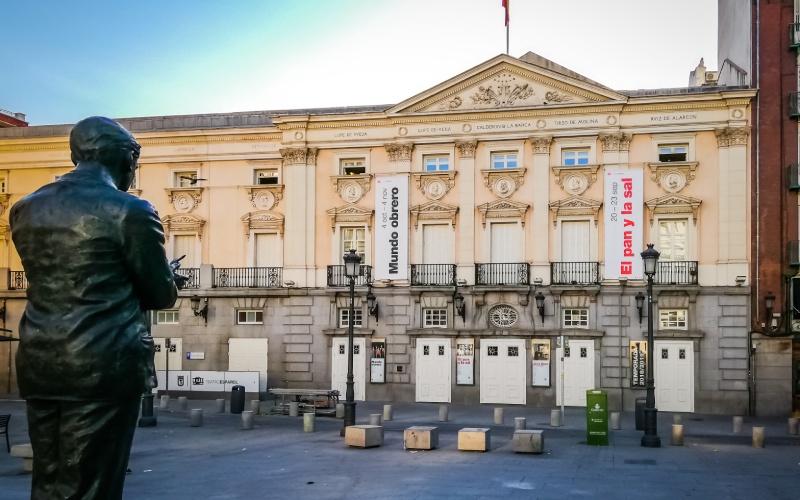 Théâtre Español dans le quartier des Letras, Madrid