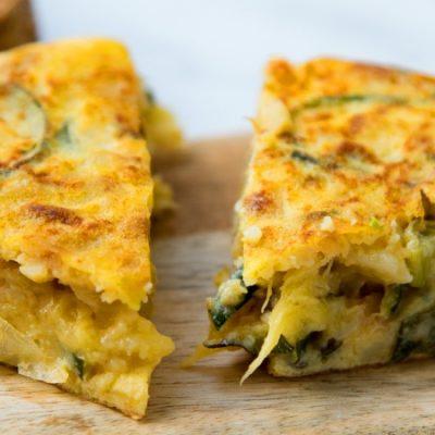 Recette d'omelette de courgettes, une tapa santé pour tout moment