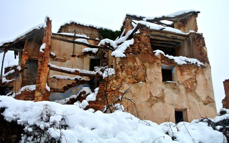 Restes de Turruncún sous la neige