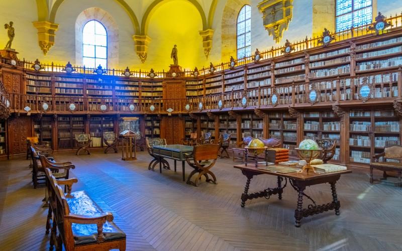 Intérieur de la bibliothèque de l'Université de Salamanque