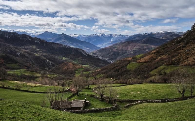 Paysage de la vallée de Pelúgano, lors de la montée vers le hublot