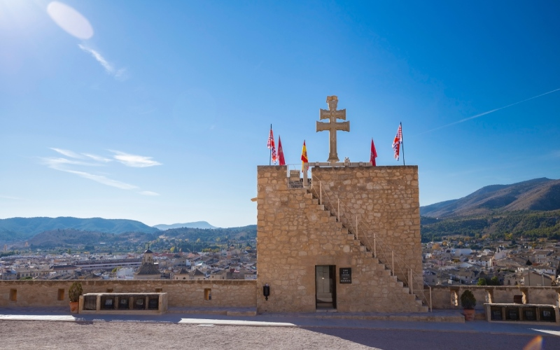 Vues du château de Caravaca de la Cruz